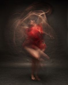 Blurred Long Exposure Portraits Showing Dancers in Motion