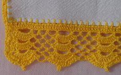barrado de croche para pano de copa  pano de copa brano,linha clea 5 croche