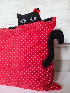 Cat pillow case animal pillow cover kitty nursery by Jousilook