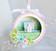 Petite Places Ornament by Kay Miller for Papertrey Ink (January 2016)