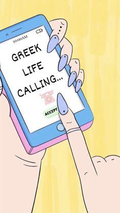 Greek life is calling Pi Beta Phi, Alpha Sigma Alpha, Alpha Chi Omega, Phi Mu, Sorority Socials, Sorority Pr, Phi Sigma Sigma, Kappa Kappa Gamma, Go Greek