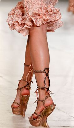 Sarah Burton Reigns at Alexander McQueen for Spring 2012. Here are some of my favorite looks for Spring 2012, saturated in the succulent, juicy, luscious cantaloupe and coral hues that are so hot now.