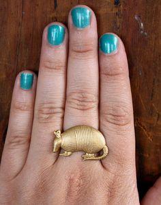 Armadillo Woodland Animal Ring