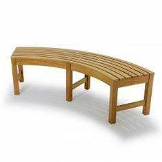 curved wooden bench for garden and patio homesfeed 1 patio ideas