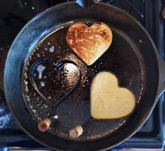 Heart-y Flapjack Valentines Breakfast Box LARGE – Copper Pot & Wooden Spoon Raspberry Rhubarb Jam, Strawberry, Heart Shaped Pancakes, Flapjack Recipe, Valentines Breakfast, Sweet Like Candy, Cheap Coffee, Food Spot, Tasty Pancakes