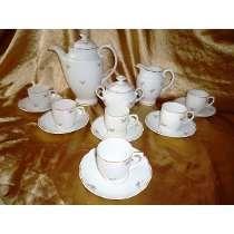 Lindo Aparelho Vintage De Café Real Dec.ouro18k/rosas,déc.60