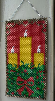 Christmas Perler Beads, Crochet Christmas Trees, Beaded Christmas Ornaments, Christmas Cross, Melty Bead Patterns, Bead Loom Patterns, Beading Patterns, Perler Bead Emoji, Pony Bead Projects