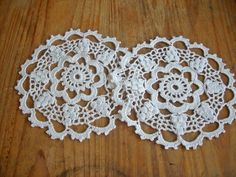 Crochet doily Crocheted doilies lace doilies by TejidosCirculos, $10.00
