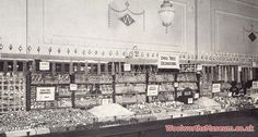 An awesome counter display of Christmas Decorations at Woolworths in 1928. Click on the image for a full resolution version in a new browser window.