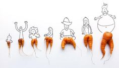 Carrot Art from the Freestyle Farm