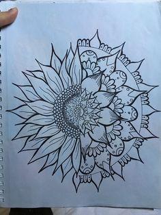 Sunflower zen tangle drawing - New Ideas Mandala Tattoo Design, Mandala Drawing, Tattoo Designs, Drawing Drawing, Tattoo Ideas, Drawing Ideas, Sunflower Mandala Tattoo, Sunflower Drawing, Sunflower Tattoos