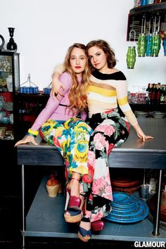 """Jemima Kirk and Lena Dunham My favorite show in HBO """"Girls"""" obsessed!!"""