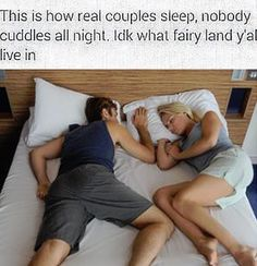 Cuddling Is Just For The Honeymoon Stage