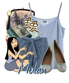 """Mulan"" by likeghostsinthesnow ❤ liked on Polyvore featuring Jean-Paul Gaultier, MTWTFSS Weekday, Paloma Picasso, Clizia Ornato, Monsoon and Disney"