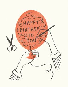 Send this lovely card on Postable. Type a message on the site and Postable prints, addresses and mails it out for you. No more licking! Happy Birthday Art, Simple Birthday Cards, Bday Cards, Happy Birthday Balloons, Birthday Images, Birthday Quotes, Birthday Greetings, Happy Birthday Painting, Vintage Birthday