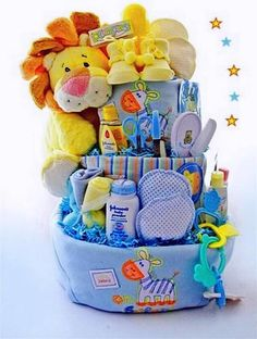 Diy new baby gift basket idea and free printable basket ideas 35 diy baby shower gift basket ideas solutioingenieria Images