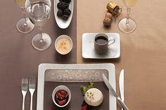 Villeroy & boch plates/v našem razstavnem prostoru Place Settings, Table Settings, Serving Dishes, Food Presentation, Tablescapes, Dinnerware, Sweet Home, Plates, Tableware