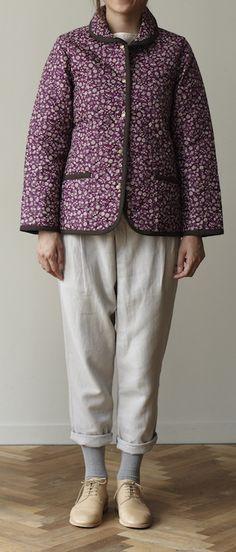 軽くてあったかな、キルティングコート。/キルティング地で作るコート&バッグ(「はんど&はあと」2012年11月号)