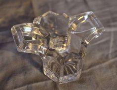 Antique Double Salt Cellar - Heavy Cut Glass