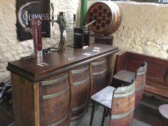 wine barrel bar | Pub Furniture - Kelly Wine Barrels