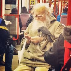 i've seen lots of weirdos on the public transport. but this one outdid them all! #prague #weirdo #bird #underground