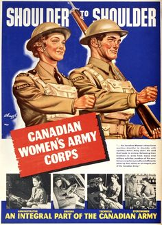WW2 Canadian Womens Army Corps poster