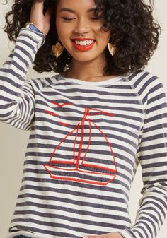 Unstoppably Nautical Long Sleeve Top