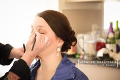 The beautiful bride + bridal make up, Wedding Photography by Natalie Priscilla Photography and Design. New Zealand.