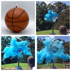 85a8ab1b504 Basketball Gender Reveal Ball Filled w  Pink or Blue Powder and or  Confetti! Gender Reveal Basketball Pair w  Powder   Confetti Cannons