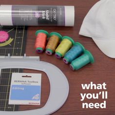 Using Toolbox's Editing module, it's incredible easy to combine, edit, and alter embroidery designs to create an easy embroidered hat. Brother Embroidery, Hat Embroidery, Machine Embroidery Projects, Free Machine Embroidery Designs, Embroidery Machines, Stitch Witchery, Hat Tutorial, Embroidered Gifts, Sewing Lessons