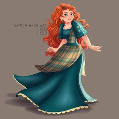 Disney Princesses x 🇵🇭: Merida . Merida in toned down Mestiza Gown (Formal version of the Baro't Saya). Arte Disney, Disney Fan Art, Disney Style, Disney Love, Disney Artwork, Disney Princess Merida, Disney Princess Dresses, Princesa Disney, Tangled Princess