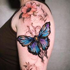Bug Tattoo, Insect Tattoo, Witch Tattoo, Golden Girls Tattoo, Tatto Floral, Tattoo Bunt, Special Tattoos, Neo Traditional Tattoo, Disney Tattoos