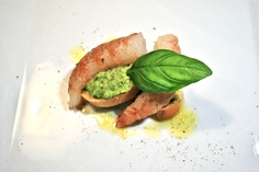 Gambero crudo/Crema di broccoli