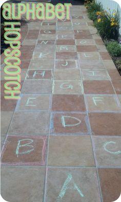Summer Fun Activites on a Budget   #2 Alphabet Hopscotch