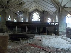 Interior of a abandoned Lutheran Church in St. Louis Missouri originally built in 1894.  Copyright Decaying Decadence STL