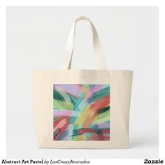 Abstract Art Pastel Large Tote Bag Large Tote, Design Your Own, Holiday Cards, Abstract Art, Reusable Tote Bags, Pastel, Gifts, Accessories, Presents