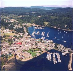 Ganges Harbour on Salt Spring Island, BC, t There are three wineries within a few miles of the village that conduct tours and tastings.