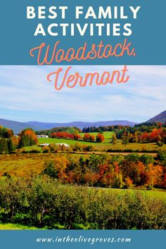 Woodstock, Vermont is one of the prettiest small towns in America. Come see all it has to offer. #Intheolivegroves #Woodstock