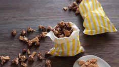 Mocha popcorn with sesame brittle recipe : SBS Food