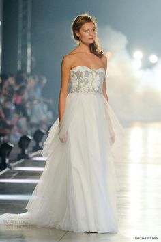 {Ball Gown Featuring A Strapless Embellished Bodice by David Fielden 2014}