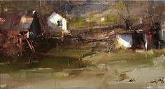 """A Little Luck"" by Tibor Nagy Oil on Linen ~ 9.8"" x 17.7"""