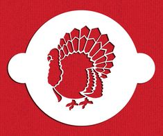 This turkey cake stencil top is made from 10 mil, food-grade plastic. The design fits within a circle. Thanksgiving Cookies, Fall Cookies, Thanksgiving Turkey, Thanksgiving Recipes, Halloween Stencils, Turkey Cake, Cake Stencil, Stencil Designs, Fall Halloween