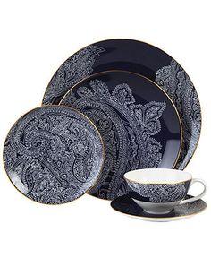 Lauren Ralph Lauren Dinnerware, Round Hill Collection - Fine China - Dining & Entertaining - Macy's