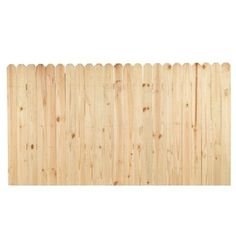 Pine Stockade Pressure Treated Wood Fence Panel (common: 4-ft X 8-ft; Actual…