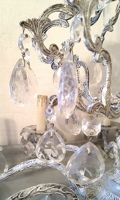 ...crystal chandeliers throughout her house....just because!