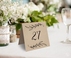 Wedding Table Numbers 1–40, Rustic Wedding Table Numbers Template, Reserved and Head Table Signs Included, Tent Style, TN08, VW01