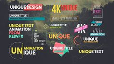 31 Unique Titles Pack  After Effects Template - Download preview here : https://0.s3.envato.com/h264-video-previews/7ad59342-e49b-4c4c-97e4-968baf558fdb/16448306.mp4