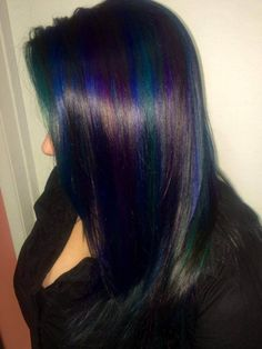 Check Out Our , Gorgeous Pulp Riot Green Hair Colors & Shades for Hairstyles Blue Ombre Hair Color the Best Hair Colors for asians, Galaxy Hair by Ursula Goff & Stuff Home. Blue Green Hair, Dark Blue Hair, Teal Hair, Green Hair Colors, Ombre Hair Color, Purple Teal, Peacock Hair, Neon Colors, Green Bay