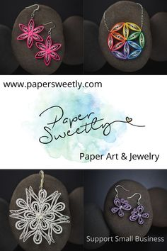 Quilling Paper Craft, Paper Crafts, Quilling Earrings, Paper Jewelry, Support Small Business, Unique Gifts, Tissue Paper Crafts, Paper Craft Work, Papercraft