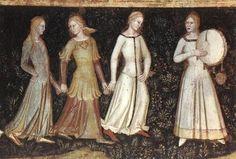 ANDREA DA FIRENZE  Way of Salvation (detail)  1365-68  Fresco  Cappella Spagnuolo, Santa Maria Novella, Florence